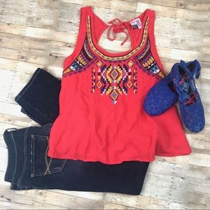 Love On A Hanger Tribal Tank Top Blouse